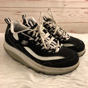 Skechers Shape Ups Leather Toning Walking Shoes